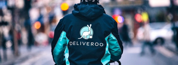 Deliveroo Rider Working In The Gig Economy
