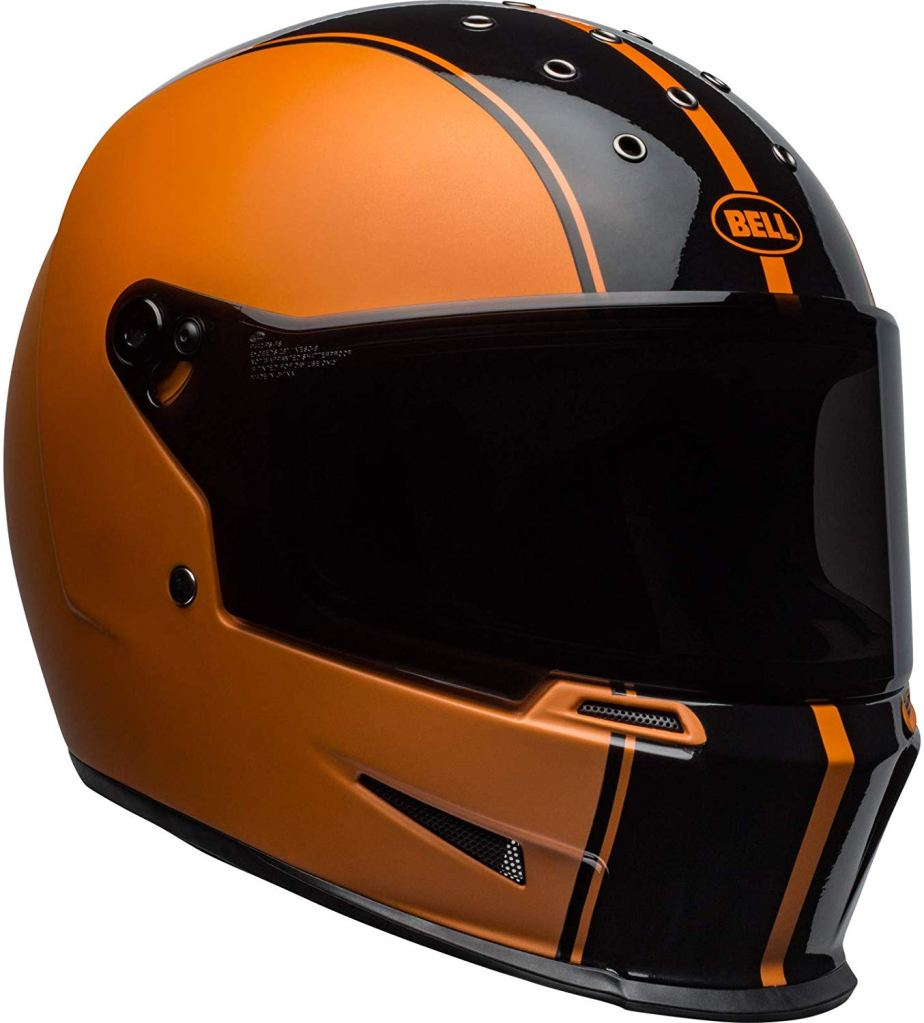 BELL Eliminator Rally Motorcycle Helmet RALLY BLACK/METALLIC ORANGE